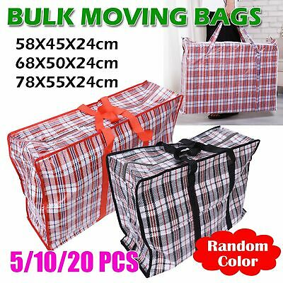 JUMBO LAUNDRY BAGS Zipped Reusable Large Strong Shopping Storage Bag Moving XL