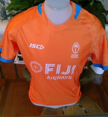Flying Fijians Official Player 2019 RWC Men's Training Jersey Orange Large