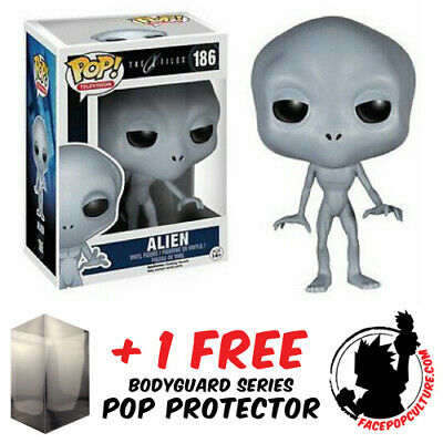 Funko Pop X-Files Alien #186 Vinyl Figure + Free Protector