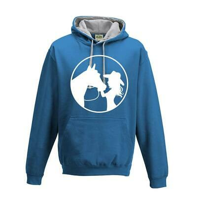 Women`s Kids Childs Horse Riding Jumping Hoody Cow Girl Equestrian Hood Top
