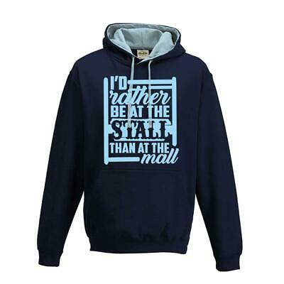 Women`s Kids Childs Horse Riding Jumping Hoody I`d Rather Be At The Stall Top