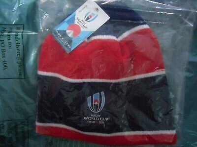 RUGBY WORLD CUP JAPAN 2019 Navy/Red RWC  BEANIE NWTS