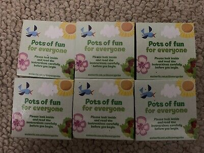 """6x New Woolworths """"Discovery Garden"""" Pots - Random Selection"""