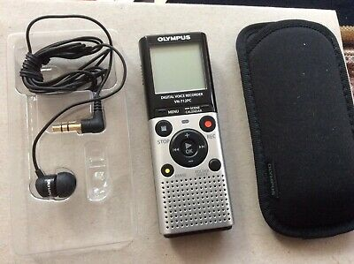 OLYMPUS DIGITAL VOICE RECORDER VN-712PC with Pouch & Earphone