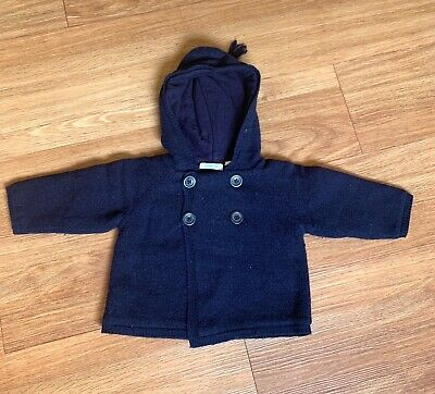 Country Road Heavyweight Wool Hooded Cardigan - Size 6-12 months
