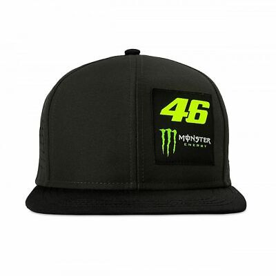 Valentino Rossi Flat Peak Cap VR46 MotoGP Monster Energy Logo Official 2019