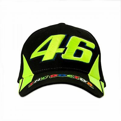 Valentino Rossi Cap VR46 MotoGP The Doctor Black Baseball Official 2019