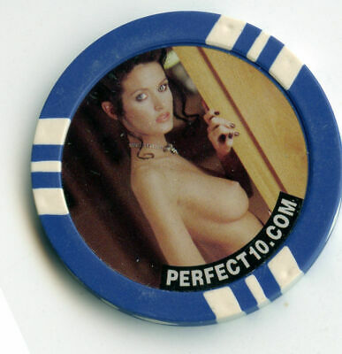 Brothel/Strip Club Casino Poker Chip: Perfect 10 Blue