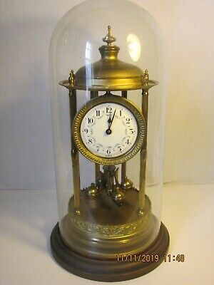 Large Bandstand Louvre clock, torsion anniversary 400 day clock