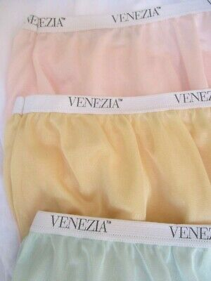 LOT of 5..RETRO VTG..GRANNY PANTIES..FULL BRIEF..NYLON..PINK, GREEN +..NEW..XXL