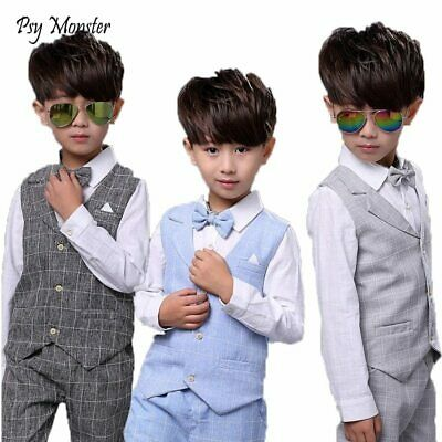 Kids sets for Boys Formal Suits Birthday Wedding Party Dress Shirt Gentleman Wai