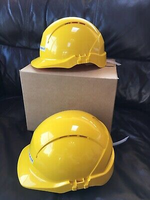2x Centurion Concept Vented Safety Helmets Hard Hats  Yellow