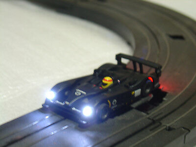 Custom LED Lighted Tomy AFX Mega G Audi R10 HO Scale Slot Car