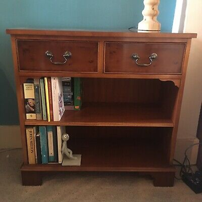 Small Bookcase 2 Drawers. mahogany Veneer