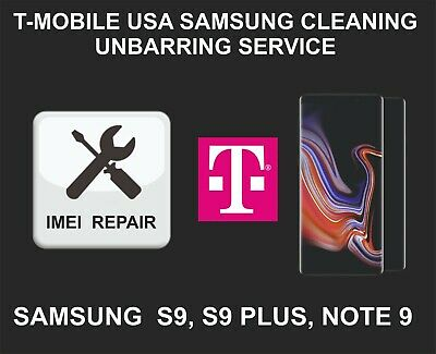 T-Mobile IMEI Cleaning, Unbarring Service for Samsung S9, S9 Plus, Note 9