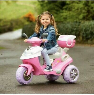 Pink Electric Scooter 6V Ride On Kids Children's Girls Bike Motorbike Motorcycle