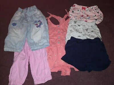 Girls Shorts, Playsuit, Cropped trousers Aged 3-4 Years
