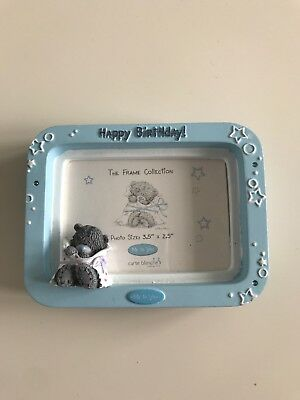 ME TO YOU PHOTO FRAME/ Happy Birthday/ Small/ Blue/ Teddy Bear/ Collectable/Gift
