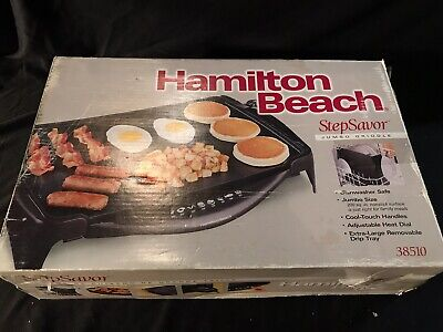 Hamilton Beach StepSaver Electric Jumbo Griddle