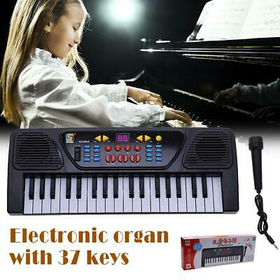 Kids Childrens 37 Key FM Radio Electronic Keyboard Piano Musical Toy Mic #S4