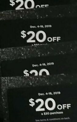 Victoria Secret Pink $20 off a $50 Purchase Holiday Reward Card Dec 4-18 Gift