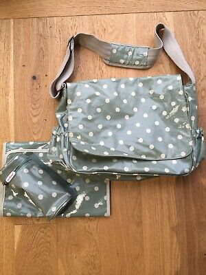 Cath kidston Khaki Spot change bag, Mat And Bottle Holder - Good Used Condition