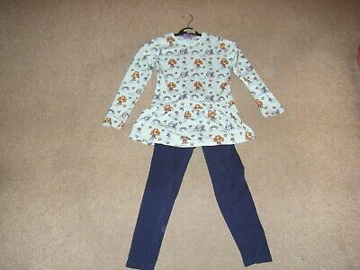 Girls Blue Paw Patrol Top and Leggings Age 6-7 Years from George