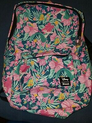 Loungefly Disney The Little Mermaid Ariel Tropical Book Bag Backpack