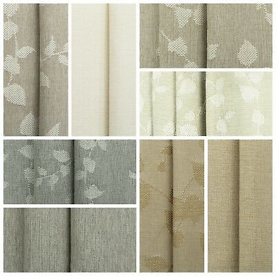 Designer Linen look Curtain Fabric Plain Design Soft Upholstery Cushion Material
