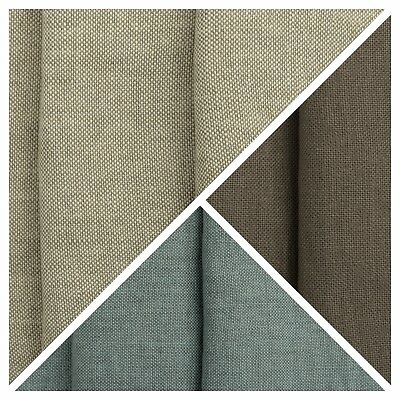 Designer 100% Linen Curtain Fabric Heavy Plain Soft Upholstery Cushion Material