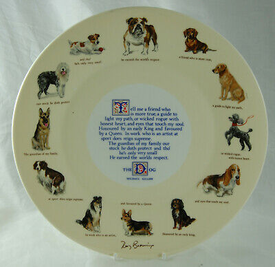Aynsley The Dog Michael Gillow Various Breeds Collectors Plate 1978