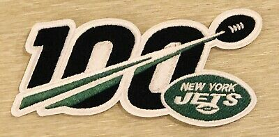 """🏈NEW 5"""" 2019 NEW YORK JETS 100th Anniversary Iron On NFL 100 YEARS SEASON PATCH"""