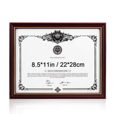 7x9 Skilcraft Wood Gold Photo Certificate Picture Frame Document Degree 8.5x11