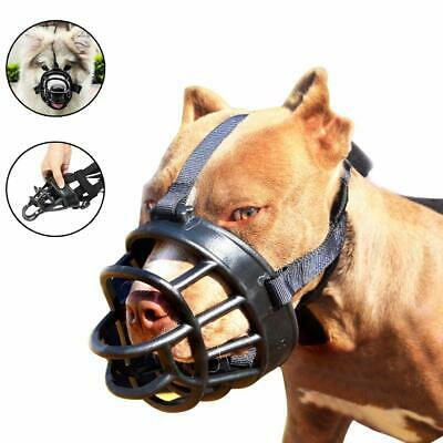 Dog Muzzle-Soft Basket Muzzle for Dogs Adjustable & Comfortable Secure Fit