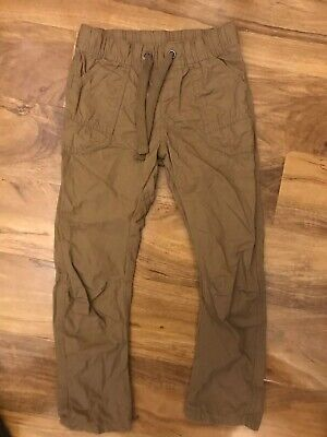M&S Mustard Lightweight  Drawstring Trousers Age 6/7 Years