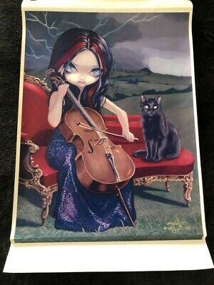 """Jasmine Becket-Griffith 11"""" X 14"""" CANVAS PRINT Cello Storm Limited Edtion"""