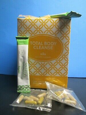mlis total body cleanse power cleanse packets + essential drink 7 day kit