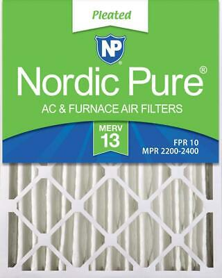 Nordic Pure 20x21/_1//2x1 Exact MERV 8 Pure Carbon Pleated Odor Reduction AC Furnace Air Filters 2 Pack