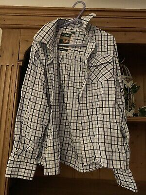 Rydale Boys Blue Checked Shirt Age 9/10
