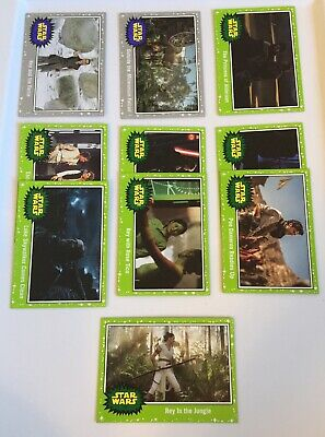 Topps STAR WARS Lot of 10 JOURNEY TO THE RISE OF SKYWALKER • 2 Grey • 8 Green