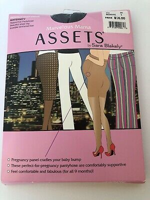 SPANX Maternity Marvelous Mama Supportive Sheer Pantyhose 96225-01 Black Size 1