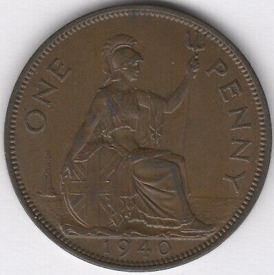 1940 George VI One Penny | British Coins | Pennies2Pounds
