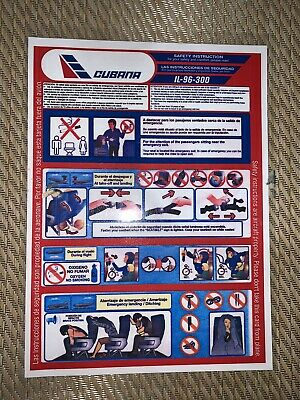 Safety Card Cubana Il96