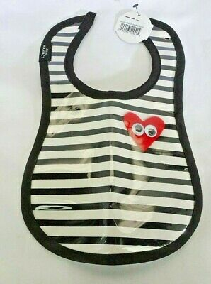 Playdate Heart Slick Bib by aBaby Easy Clean BABY BIB T3