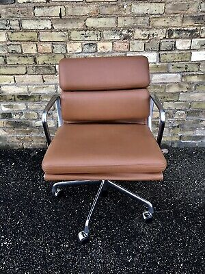 Herman Miller Eames Aluminum Group Management Chair All Grain Edelman Leather