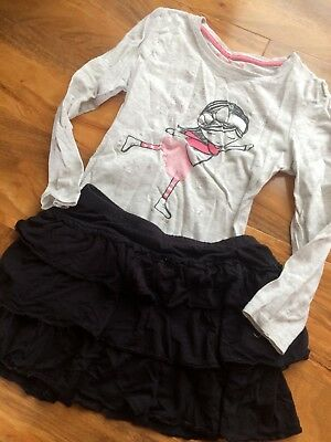 Girls Top And Skirt Outfit Bundle Age 6-7