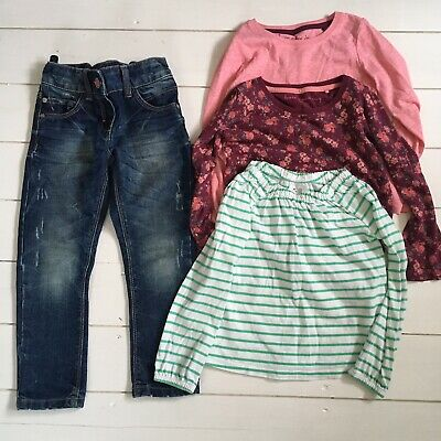 Girls Clothes Bundle, 5 Years, Next and Gap, Jeans and Long Sleeve Tops
