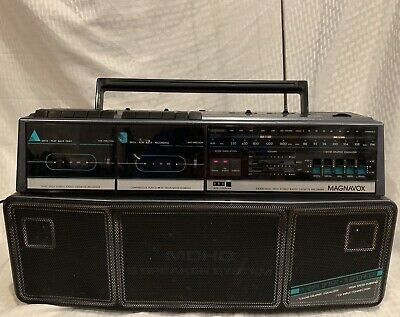 Vintage Magnavox D 8300 Boom Box Radio Cassette Player - CHEAP!