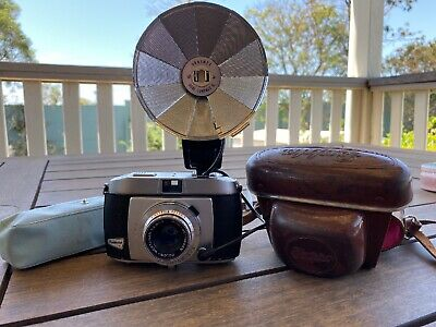 Vintage Balda Baldessa 1960s 35mm Compact Camera, Case And Flash