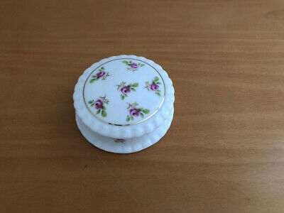 Staffordshire The Amber Collection Fine Bone China Lidded Trinket Box England